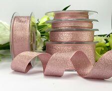 Rose Gold Metallic Lame Ribbon - Sparkle Wedding Christmas Bow Gift Tree Cake