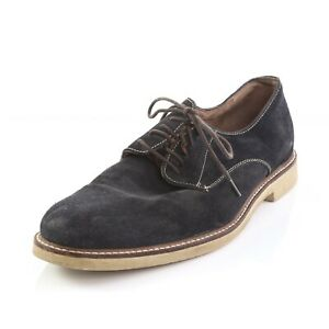 Banana Republic Oxford Shoes 10.5 Dress Navy Blue Suede Lace Up Leather B133
