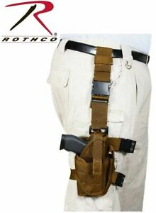 Rothco Coyote Brown Deluxe Adjustable Drop Leg Tactical Holster AirSoft BB .177