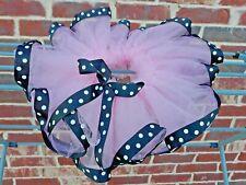 Minnie Mouse 1st Birthday Tutu Outfit pink Black White ribbon trim tutu