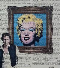 Han Solo vs Andy Warhol - Marilyn - pop art- dictionary page art print star wars