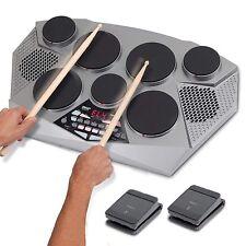 Pyle Pro Electronic Drum kit - Portable Electric Tabletop Drum Set Machine wi.