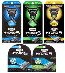 Schick Hydro 5 Sense Men Razor Hydrate Sensitive Energize, CHOOSE