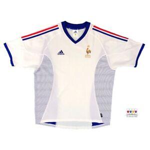 France 2002/04 International Away Soccer Jersey XL Adidas