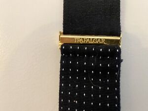 Trafalgar Suspenders Braces Dotted Black and Burgundy with Brown Leather Tab