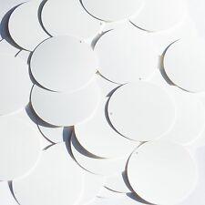 "Round Sequin 1.5"" White Matte Silk Frost Couture Paillettes"