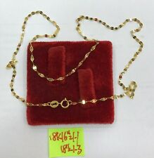 Gold Authentic 18k saudi gold necklace 18inches long,,