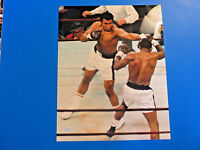 MUHAMMAD ALI 8x10 PHOTOGRAPH ~ Fight Picture Throwing A Perfect Jab ~