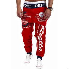 Hombre Casual Pantalones De Chándal Deporte Holgado Estilo Árabe Entrenamiento