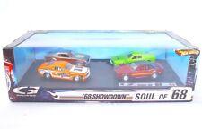 Hot Wheels FORD MUSTANG + CHEVROLET CAMARO SOUL OF `68 SHOWDOWN 4 Car Set MIB`07