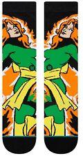 X-Men Jean Grey Comic Book Stance Socks Marvel Comics Large Men's 9-12