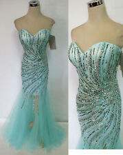 RIVA DESIGNS R9784 ICE BLUE $458 Formal Prom Gown 0