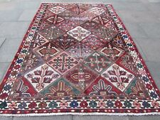 Shabby Chic Vintage Traditional Hand Made Oriental Red Wool Carpet 293x200cm