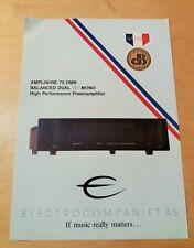 ELECTROCOMPANIET Ampliwire 75 DMB - Brochure