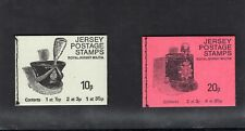 Jersey 1975 10p - 20p Military Headgear Top Margin Panes Booklet set  SG SB21-2