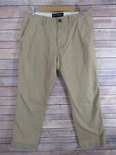 American Eagle Mens Beige Khaki Cotton Casual Pants Tag Size 34x32 Actual 36x31