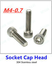 M4-0.7 Allen Hex Socket Cap Head Screws Bolts 304 Stainless Steel A2/70 DIN912
