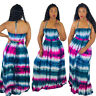 New Women Halter Sleeveless Colorful Print Casual Summer Vocation Maxi Dress