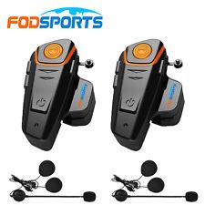 2pcs Intercom Moto Duo étanche Kit Bluetooth pour Casque Moto & Ski Main 1000M