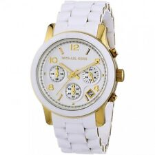 Women's Watch Michael Kors MK5145 Runway Sport Watches Quartz White Tone
