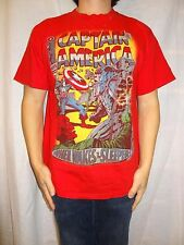 Marvel Comics Captain America When Wakes The Sleeper T-Shirt Red Size L