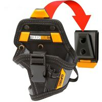 ToughBuilt LITHIUM-ION DRILL HOLSTER 5-Pockets & Loops +ClipTech Hub *USA Brand
