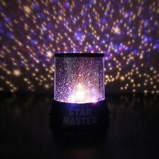 Regalo 8 realista de luz LED de cielo proyector de proyección de Nieve Estrella Noche Lámpara Proye..