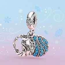 Authentic Pandora S925 charm Disney Frozen Elsa and Nikki Dangle Charm 798456C01