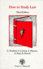 Very Good, How to Study Law, Neal, Alan, Masson, Judith, Newell, David, Cownie,