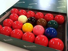 "REAL ARAMITH SNOOKER BALLS 2"" inch High Quality Premier (FULL 22 Ball Set)"