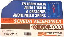 Collectable Telecom Italia Phonecard -- Sport Bari 1997 Lire 5000 -- USED