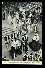 Royalty CORONATION 1953 Queen Elizabeth Westminster Abbey PPC
