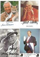 4 Autogramme Heinz Sielmann + Martin Jente + Jane Tilden + F. Schönfelder alle +