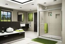 "FLEURCO 46"" x 70"" BANYO CORDOBA 1/4"" FRAMELESS SLIDING SHOWER DOOR"