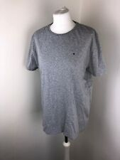 Mens Tommy Hilfiger Jeans Top T Shirt Grey Sports Polo Summer Holiday Logo L