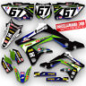 2008 - 2014 2015 2016 2017 KAWASAKI KLX 140 GRAPHICS KIT RIDGELINE: GREEN / BLUE