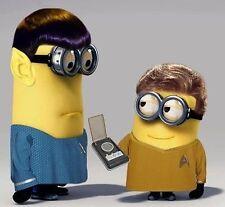 "Minion Star Trek 4""x4"" Flexible Fridge Magnet"