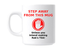Funny Joke Office Novelty Gift Mug Personalised Step Away from the Mug
