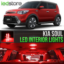 Red LED Lights Interior Kit Package Bulbs For 2014-2018 Kia Soul