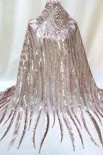Champagne Sequin Mesh Lace Fabric Tulle Wedding Dress Lace Farbic 51'' by Yard