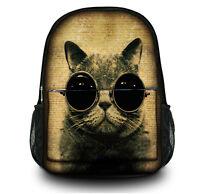 Cat Women Men's Backpack School Shoulder Bag Rucksack Canvas Travel Satchel
