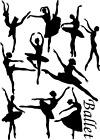 Ballerina Ballet Dancers Vinyl Decal Stickers Mixed Size Wall Art Bedroom Deco