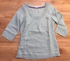 Tunika Blusen Shirt von Boden aus Leinen Gr. 34 - UK 8 Mint