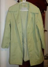 10 Ladies Womens Marshall Field & Co Jacket Coat Lime Green Lined Buttons Pocket