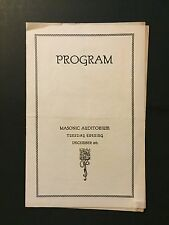 MME. STURKOW-RYDER PIANIST MASONIC AUDITORIUM WASHINGTON D.C. 1920'S PROGRAM