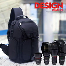 Waterproof Nylon Camera Sling Backpack Bag for Canon Nikon Sony DSLR Mirrorless