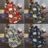 Women Rolled Up Long Sleeve Floral Tunic Tops T Shirt Summer Beach Mini Dress XL