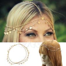 Bohemian Women Style Drop Head Chain Jewelry Forehead Dance Headpiece Hair Band