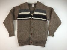 Hilda Ltd Rare Icelandic Wool Cardigan Sweater White Gray Sz Small