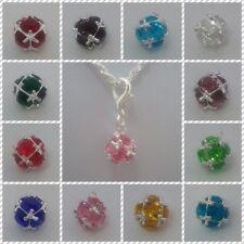 ❤ Birthstone Charms ❤ CLIP ON CHARMS ❤ Organza Gift Bag ❤